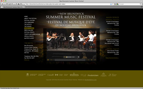 The New Brunswick Summer Music Festival