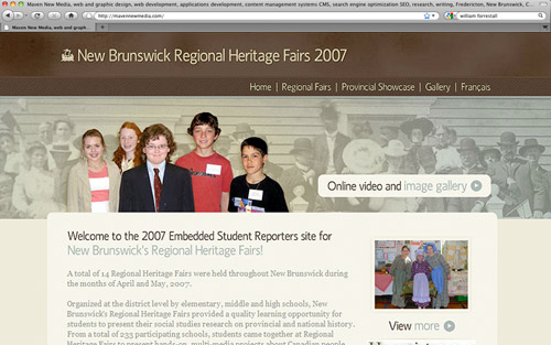 New Brunswick Regional Heritage Fairs 2007